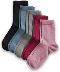 Esprit Lot de 5 paires de chaussettes unicolores