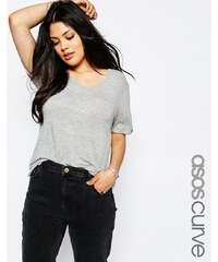ASOS CURVE - Forever - T-shirt - Gris