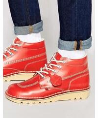Kickers - Kick Hi - Bottes en cuir - Rouge