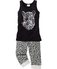 bpc bonprix collection Pyjama (Ens. 2 pces.), T. 128/134-176/182 noir enfant - bonprix