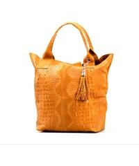 Kožená kabelka Croco camel