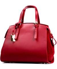 Kožená kabelka Claire červená