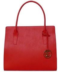Elegantní kabelka z kůže Nate červená Saffiano