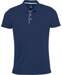 Pánská sportovní polokošile - Námořnická modrá S