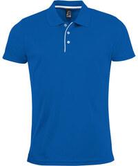 Pánská sportovní polokošile - Královsky modrá S