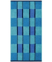 Handtücher Graph mit dreifarbigem Karo Egeria blau 2xHandtücher 50x100 cm