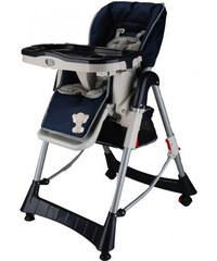 BabyGO Dětská jídelní židle Maxi - tmavě modrá