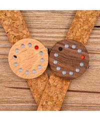 Lesara Montre en bois avec bracelet en liège