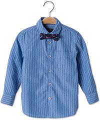 C&A Langärmeliges Baumwoll-Hemd mit Fliege in Blau