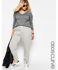 ASOS CURVE Track Pant With Contrast Tie - Grau
