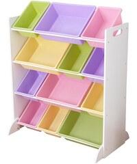 KidKraft® Regal mit Aufbewahrungsboxen für Kinderzimmer, weiß