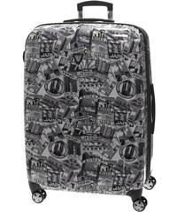 Cestovní kufr Roncato Colorado Print L 409281-91 černá