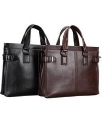 Pánská taška Feger Royale - černá/hnědá - hnědá