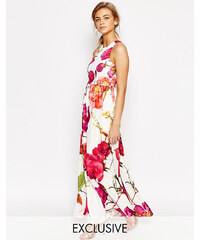 Hope and Ivy - Robe longue 2 in 1 avec imprimé floral oversize - Multi