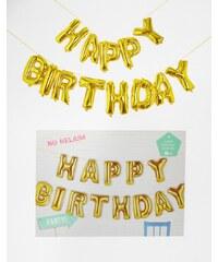 Talking Tables - Happy Birthday - Ballon-Girlande - Gold