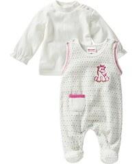 Schnizler Unisex Baby Strampler Set Nicki, Eselchen Gepunktet, 2 Tlg. mit Langarmshirt