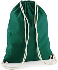 Bavlněný vak na záda - Lahvově zelená univerzal