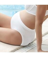 Hanna Style Bezešvé těhotenské kalhotky - antibakteriální bílá M