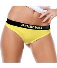 Tanga Addicted žlutá žlutá L