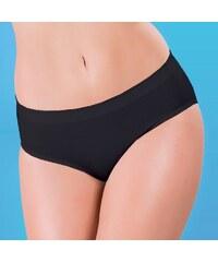 Hanna Style Kalhotky vysoké - lepené švy černá L