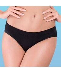 Hanna Style Kalhotky bezešvé bavlněné - lepené lemy černá M