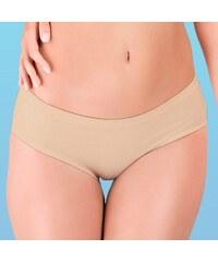 Hanna Style Kalhotky bezešvé, bavlněné 01 - lepené lemy béžová L