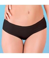 Hanna Style Kalhotky bezešvé, francouzské, bavlněné - lepené lemy černá M