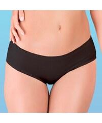 Hanna Style Kalhotky bezešvé, francouzské - lepené lemy černá XL