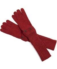 Szaleo Stylové dámské rukavice červená uni