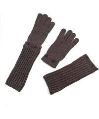 Szaleo Stylové dámské rukavice světlehnědá uni
