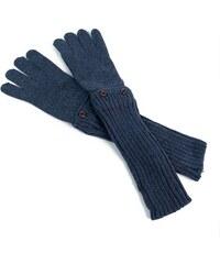 Szaleo Stylové dámské rukavice tmavěmodrá uni