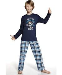 Cornette Chlapecké pyžamko Fotbal modrá 110