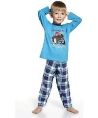 Cornette Chlapecké pyžamko Monster Truck tyrkysová 86
