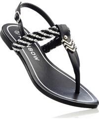 RAINBOW Sandales entredoigt noir chaussures & accessoires - bonprix