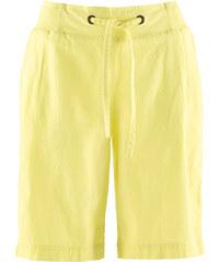 bpc bonprix collection Short mélangé lin jaune femme - bonprix