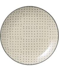 Bloomingville Keramický talíř Carla Grey Dot