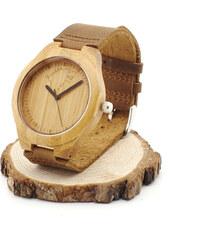 Lesara Bambus-Armbanduhr Wolf