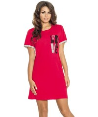 Noční košilka Luna 104-2, červená, červená, červená, červená