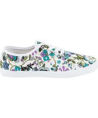 Lesara Canvas-Schnürschuh mit Blumen-Muster - 36