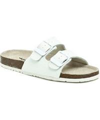 Pánská obuv Big Fish FR-113-13-04 bílé zdravotní pantofle