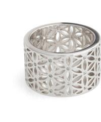 Esprit Kovový prsten s ornamentem + zirkony