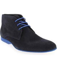 Chaussures à lacets Homme Christian Pellet en Cuir velours Bleu