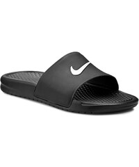 Pantoletten NIKE - Benassi Shower Slide 819024 010 Black/White