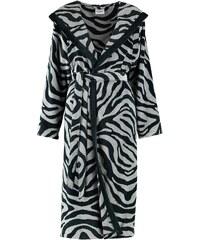 Damenbademantel, Cawö, »Zebra«, mit trendigem Fellmuster