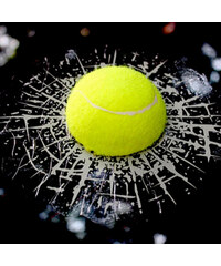 Lesara 3D-Autosticker Tennisball