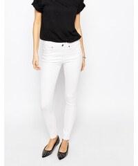 Dr Denim - Lexy - Jean skinny taille haute à 4 poches - Blanc