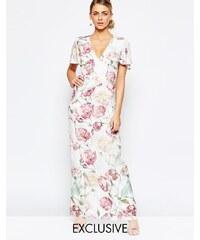Hope and Ivy - Robe longue à imprimé floral vintage - Multi