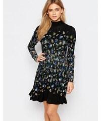 Oasis - Robe à motif marguerites placé - Multi