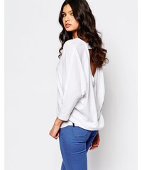 Replay - Top en jersey avec dos ouvert - Blanc