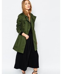 Warehouse - Trench avec boutons-pression - Vert